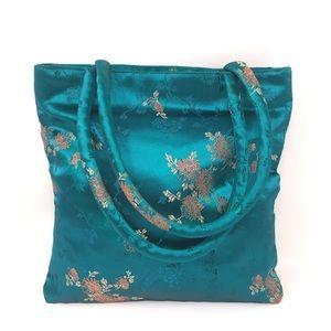 Oriental Jade Green Tote Bag Purse